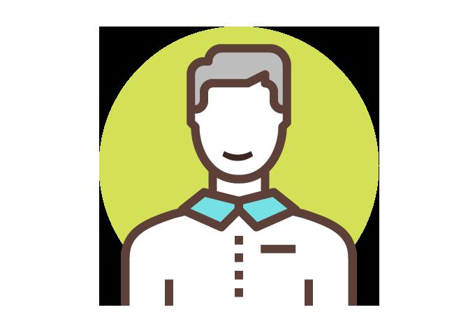 Icon motivierte Mitarbeitende